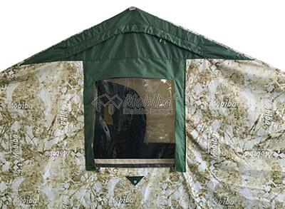 Армейская палатка Роснар Р-34. Защитный клапан на основном окне