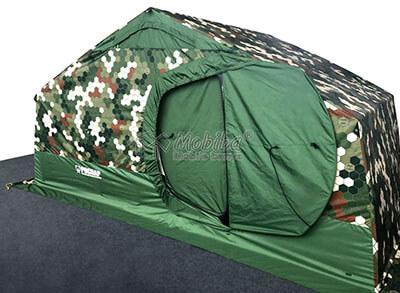 Армейская палатка Роснар Р-34. Сдвоенная распашная дверь. Дверь внутреннего тента закрыта
