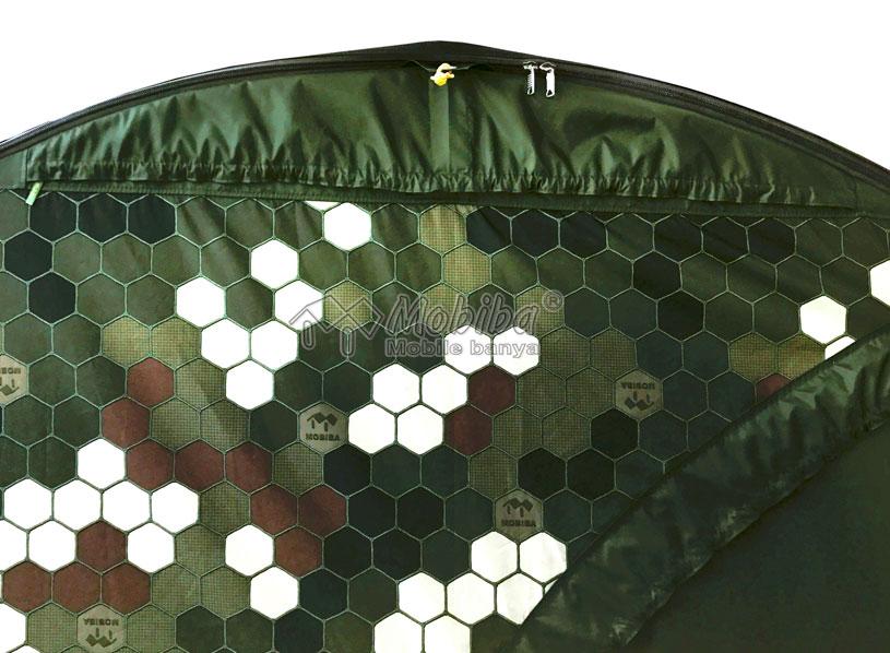 Закрытое вентиляционное окно палатки МБ-104М