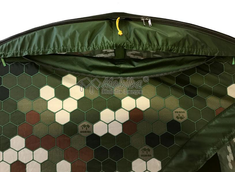 Открытое вентиляционное окно палатки МБ-104М